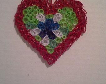 """Openwork  heart  """" Love"""""""