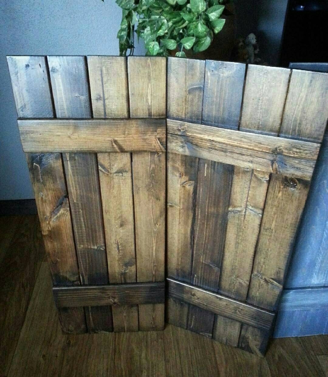 48 RUSTIC Wood Shutters   Primitive Shutters   Decorative Shutters   Interior  Shutters   Exterior Shutters   Wall Decor   Wooden Shutters