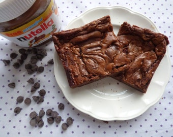 Nutella Brownies (Box of 4 or 9 squares)