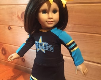 Custom Competition Cheer/Dance to fit American Girl Doll Match your Outfit or Uniform