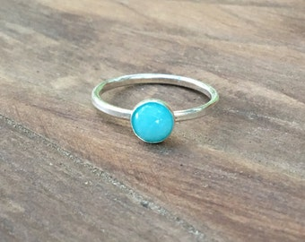Amazonite and Sterling Silver Ring, Gemstone ring