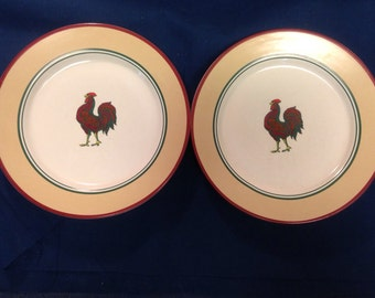 Rooster Plates - Pair