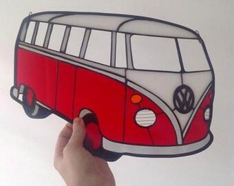 Stained Glass Volkswagen Van