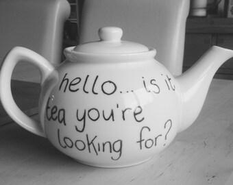 Lionel Richie (Richtea) Teapot - Hello is it tea you're looking for?