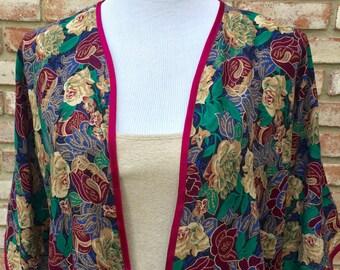 Kimono Cardigan, Cotton Kimono Jacket, Gift for Her, Gift For Her, Kimono, Hippy Boho Kimono, Beach Coverup, Floral Fall Kimono, Maternity