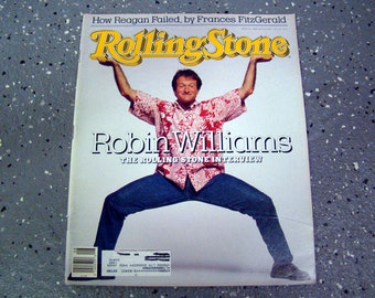 Robin Williams - Rolling Stone Magazine Issue# 520 - 1988