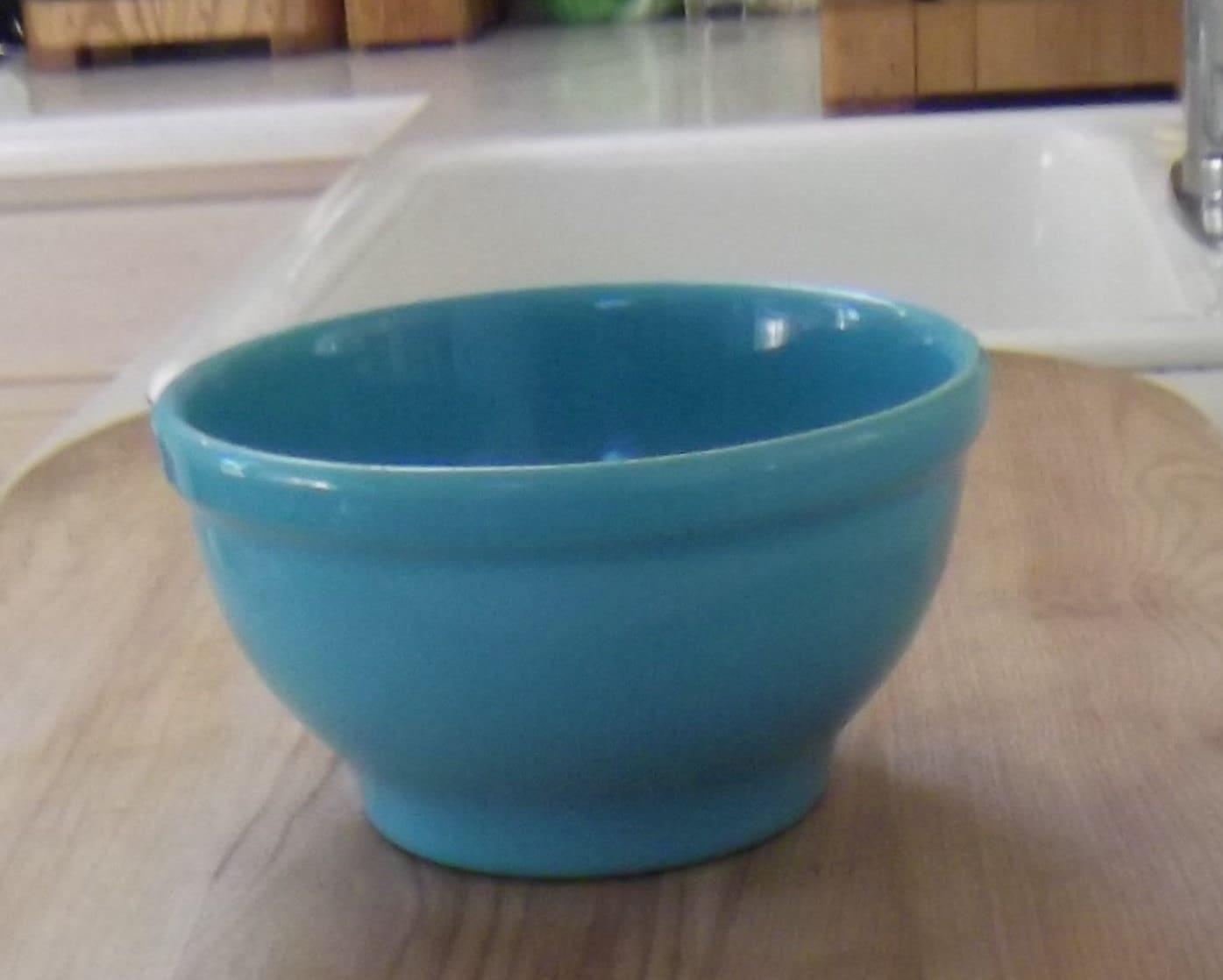 Mid-Century Metlox Bowl, Turquoise Ceramic, Vintage, Retro ...