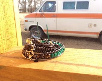 Gypsy Triple Wrap Charm Bracelet