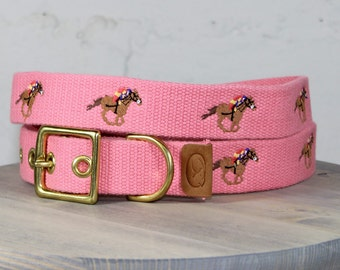 Race Horse Dog Collar