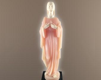 G. Ruggeri Jesus Alabaster Statue BIANCHI Italy