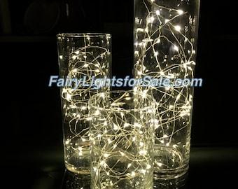 3m/9.8ft 5+ sets Warm White 30 LED fairy light string strand button battery for DIY, centerpiece, vase, mason jar, wedding, costume, firefly