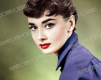 AUDREY HEPBURN 5x7, 8x10, or 11x14 Photo Print Hollywood Classic Actress 1950s Color Movie Star Portrait