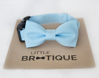 Light Blue Dog Bow Tie Sent 3-5 business days after you order