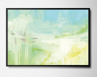 Abstract Painting, Light blue and yellow painting, PRINTABLE, home Decor, Affordable Modern Art, Modern Minimalist
