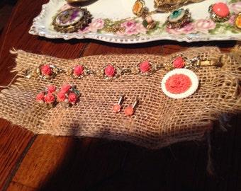 Rose Antique Jewelry Set