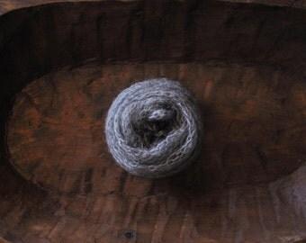 Dark Gray Loose Mohair Wrap