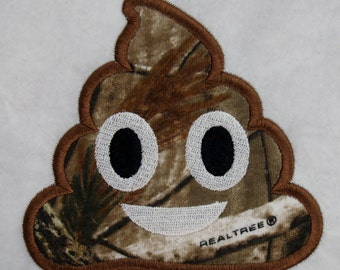 Poop Emoji Applique Machine Embroidery Design Download