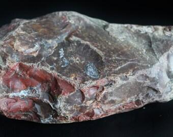 Pattern Jasper with Druzy, Rough Jasper with Quartz Inclusions, Red Jasper, Natural Stone