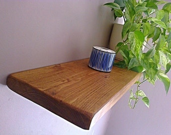 Floating Shelves, Wooden Shelving, Wall Shelves - English Oak Wax - 1ft - 6ft ** FREE UK DELIVERY **