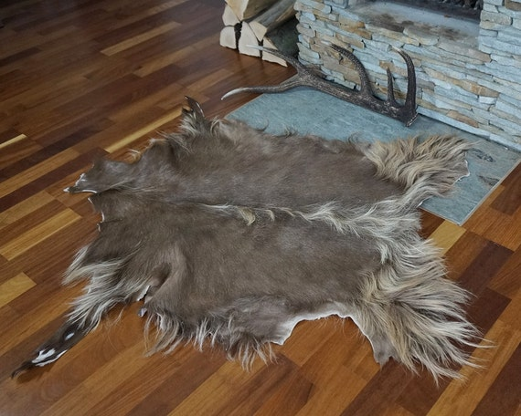 how to make a goat skin rug