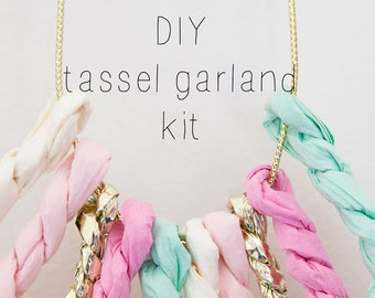White, Light Pink, Raspberry, Mint & Gold DIY KIT