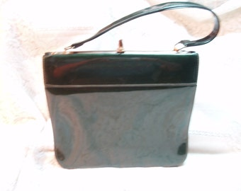 Emerald green patent leather purse****SALE