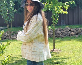 "Valjanyj jacket ""cream"" nunovojlok, a Jacket nunofelt sold!))) Sales!)))"