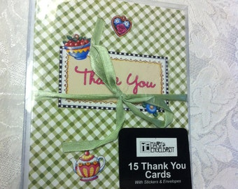Mary Engelbreit Thank You Cherry Teacup 15 Note Cards