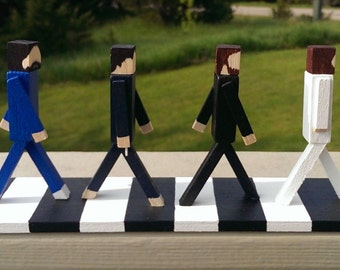 The Beatles - Abbey Road - Beatles Gift - Inspired Art - John Lennon-Paul McCartney-Ringo Starr-George Harrison - Beatles Display Sculpture