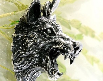 Wolf, pendant, 925 sterling silver-4892