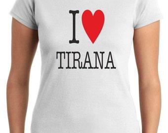 T-shirt I LOVE T0017 TIRANA