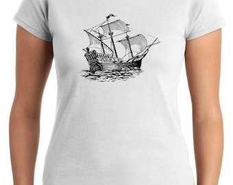 T-shirt T0840 papapishu military galleon
