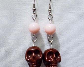 """Earrings """"death's head"""""""