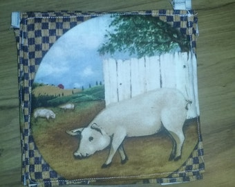 Pig Farm Pot Holder/Hot Pad