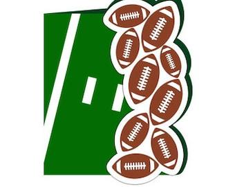 Football Card , Free Confetti , Blank inside , Field , Team , Sports , Guys , Gals  , Ball