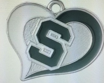 Michigan State Spartans Heart Charm