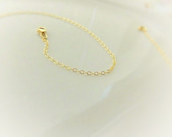 Gold Chain Necklace - Simple Gold Necklace - 14k Gold Filled Chain Necklace - Thin Gold Chain - Dainty 1.4mm Chain