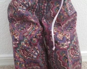 Fancy Pants Travel Shoe Bag - Purple Paisley