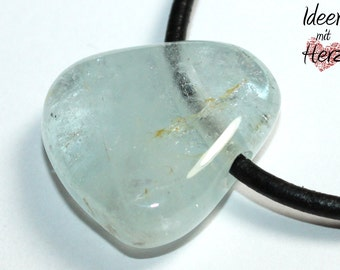 Topaz on leather band (necklace)