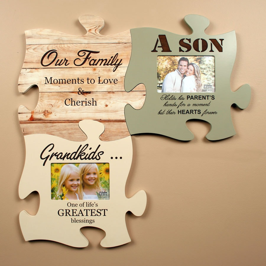 personalized puzzle piece wall art picture frame christmas