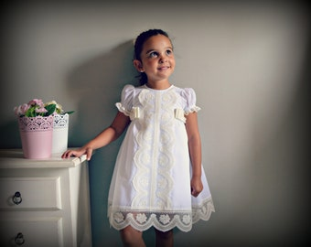 BLANCA (1T to 6 years).Toddler.Girl. Dress.Gown.Imperial batiste,swiss lace.Custom your OWN outfit.Baptism.Heirloom.Easter.Wedding.Communion