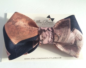 100% silk Oversized Hair Bow