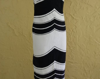 Vtg 60s 70s Black and White Maxi Halter Dress Sundress Nelly de Gab Designer