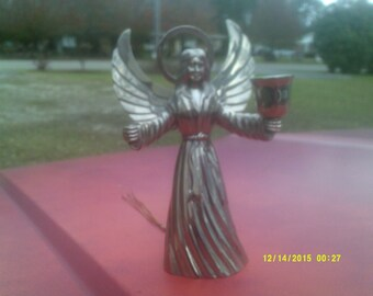 Silverplated Angel Candleholder