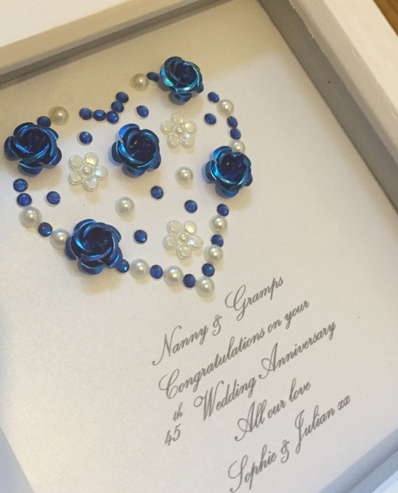 Gifts For 65th Wedding Anniversary: Sapphire Wedding Anniversary Gift 65th By LoveTwilightSparkles