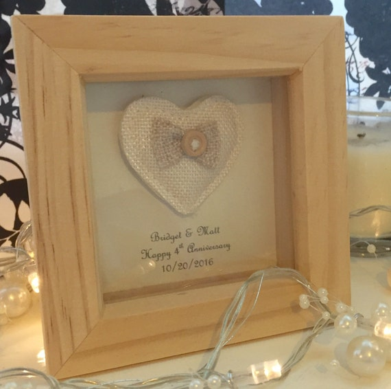4th Wedding Anniversary Gift Linen By LoveTwilightSparkles