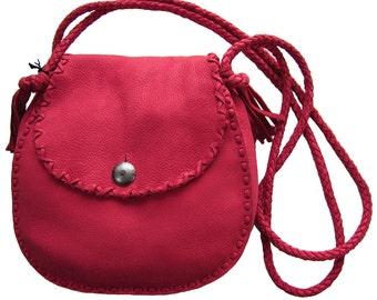 Vintage Ralph Lauren Christmas Red Shoulder Bag