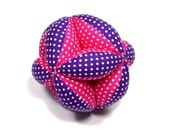 Segmented Fabric Ball, Fabric Stuffed Ball, Fabric Ball, Segmented Ball, Stuffed Segmented Ball, Baby Gift, Holiday Baby Gift, Gift For Baby