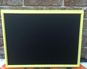 Framed Yellow Chalkboard, Yellow Wedding Chalkboard, Shabby Chic, 12x16 Frame, Birthday Party Decorations, Nursery Decor, Autumn Fall Decor
