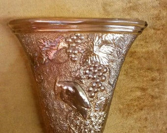 Vintage Carnival Glass Wall Pocket